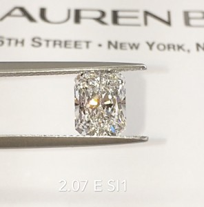 Diamond of the Week: 2.07 carat Radiant Cut