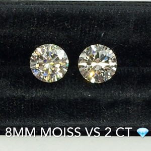 Faceoff: Diamonds vs. Moissanite, a side by side comparison