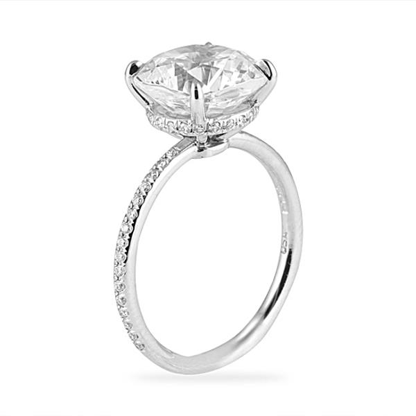 Lepozzi 3 30 Ct Cushion Cut Pave Platinum Engagement Ring