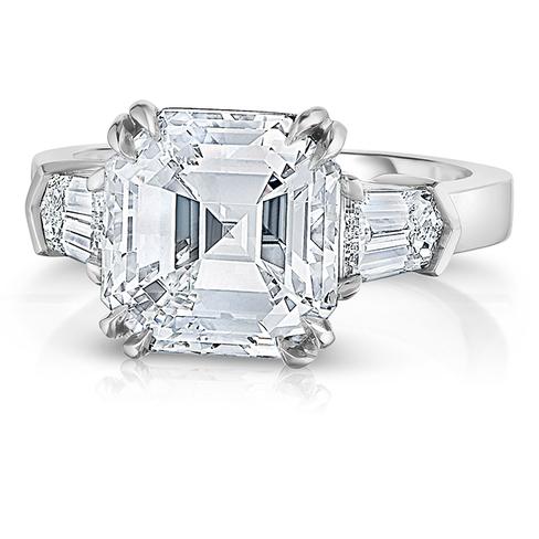 5 01 Ct Asscher Cut Diamond Engagement Ring
