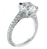 LEPOZZI 3.01 CT ROUND DIAMOND PLATINUM ENGAGEMENT RING