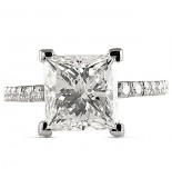 3.50 CT PRINCESS CUT DIAMOND PLATINUM ENGAGEMENT RING