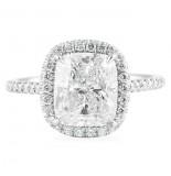 3.05 CT CUSHION CUT DIAMOND PLATINUM ENGAGEMENT RING