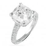 LEPOZZI 4.00 CT CUSHION CUT ENGAGEMENT RING