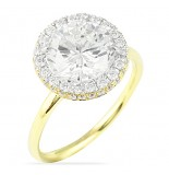 LEPOZZI 2.75 CT ROUND DIAMOND TWO-TONE ENGAGEMENT RING