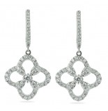 DIAMOND AND 18K WHITE GOLD DROP EARRINGS
