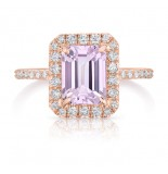 LEPOZZI MORGANITE AND DIAMOND ROSE GOLD RING