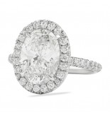 3.20 CT OVAL DIAMOND PLATINUM ENGAGEMENT RING