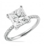 LEPOZZI 2.54 CT PRINCESS CUT DIAMOND ENGAGEMENT RING