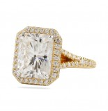 RADIANT CUT MOISSANITE YELLOW GOLD ENGAGEMENT RING