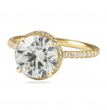 LEPOZZI 2.00 CT ROUND DIAMOND YELLOW GOLD ENGAGEMENT RING