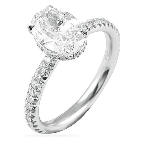 1 60 Ct Oval Diamond Engagement Ring