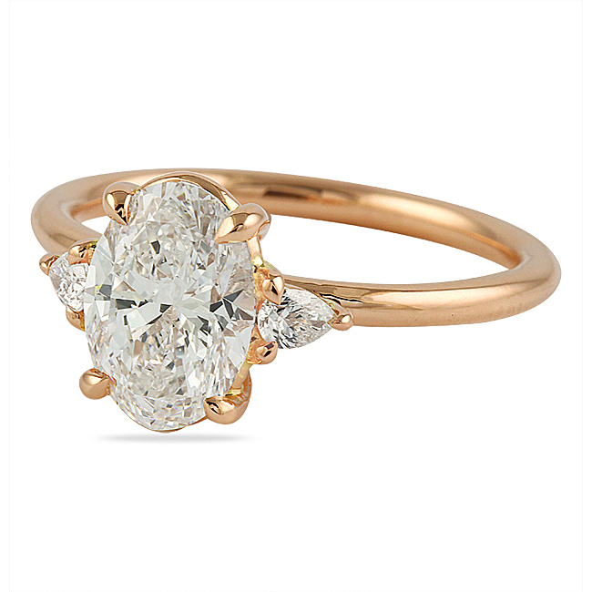 Floating Oval Engagement Ring