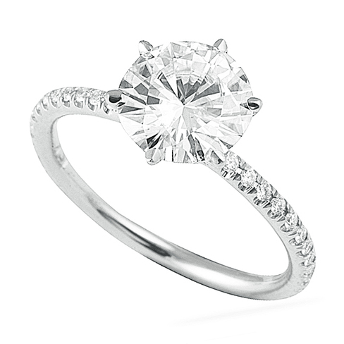 Lepozzi 2 70 Ct Platinum Round Diamond Engagement Ring