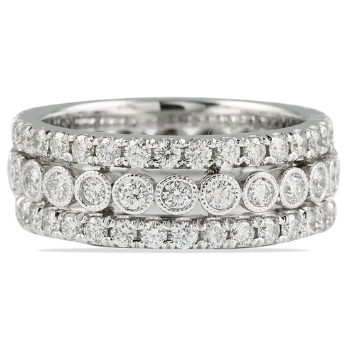 DIAMOND 14K WHITE GOLD ETERNITY BAND RING