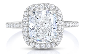 cushion cut halo