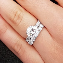 Wider Band Engagement Rings