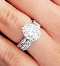 Multi-Row Band Engagement Rings