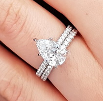 Non-Halo Delicate Pave Band Engagement Ring