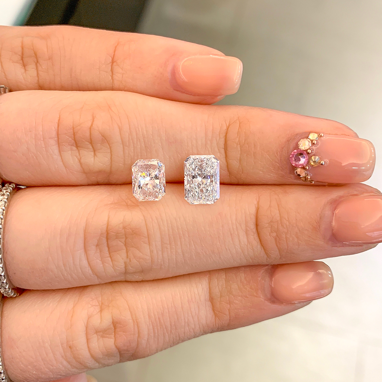LB Diamond Difference, Theirs vs Ours: Radiant Cut Diamonds