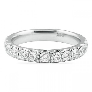 band jewelers five s collections diamond rose platinum bands gold large row long eternity