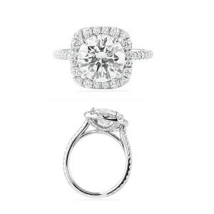 Halo Talk Round Diamond In Cushion Halo Jewelry Blog Engagement