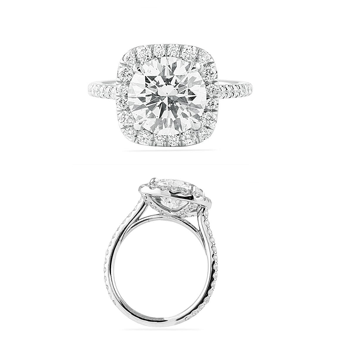 Halo Talk round diamond in cushion halo Jewelry Blog