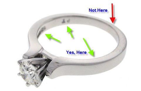 engraving something special in your engagement ring or wedding band where to engrave