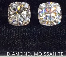 1439e71242e39 Do Moissanites Look Like Diamonds? Moissanite vs. Diamonds | Jewelry ...
