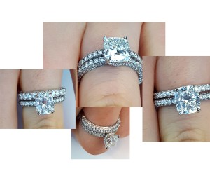 Matching Band for 3-Row Engagement Ring