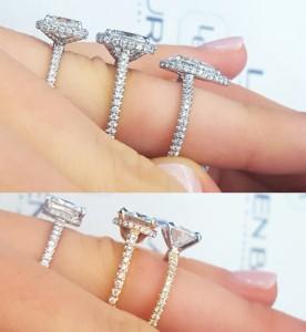 High vs. Low Set Engagement Rings | Low Profile Engagement Rings