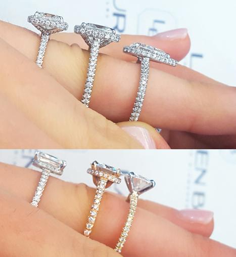 High Vs Low Set Engagement Rings Low Profile Engagement Rings Jewelry Blog Engagement Rings Diamonds Lauren B