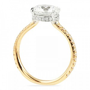 profile diamond jewelry estate low engagement rings