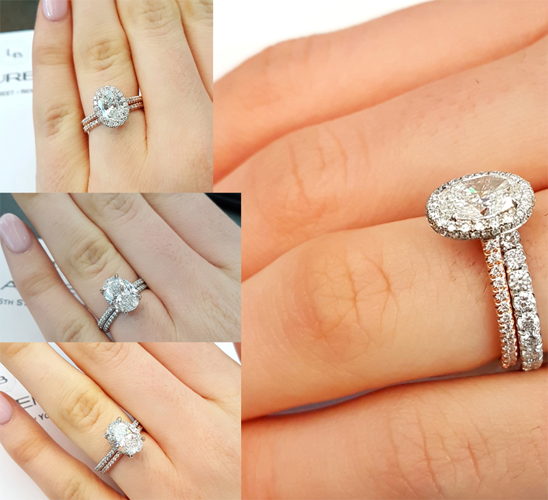 boutique engagement in cz rings matching white two gold set piece