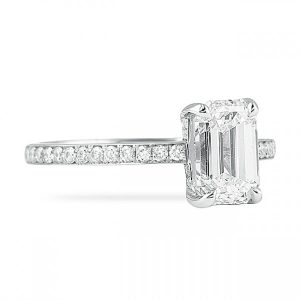 bright cut pave engagement ring