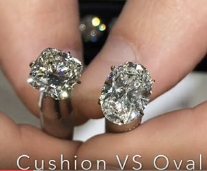 DIAMOND FACE OFF PART 2: OVAL VS CUSHION