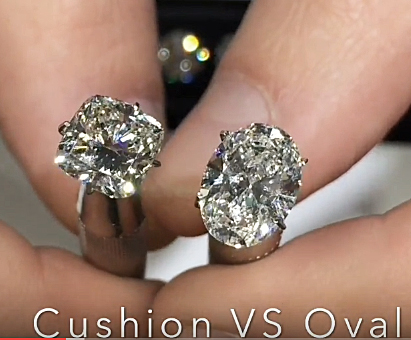 Diamond Face Off Part 2 Oval Vs Cushion Jewelry Blog Engagement