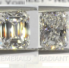 DIAMOND FACE OFF PART I: EMERALD VS. RADIANT CUT A DETAILED LOOK