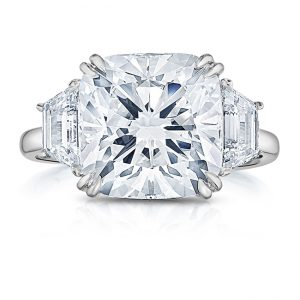 All About Trapezoid Side Stones: Lauren B Threestone Engagement Ring Series