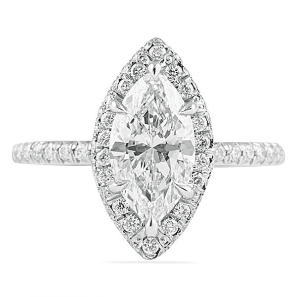 gold masami image cfm pave diamond halo marquee marquise set ring engagement in white