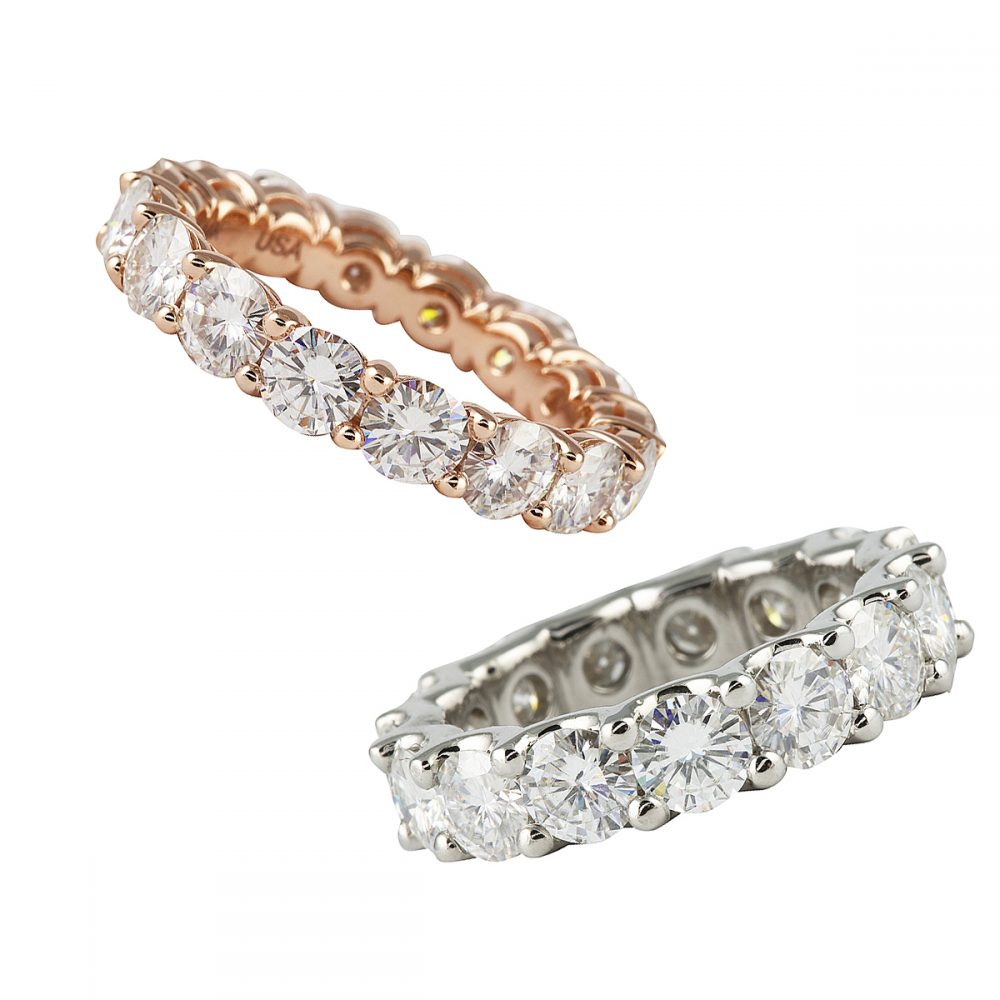 Introducing Moissanite Eternity Bands