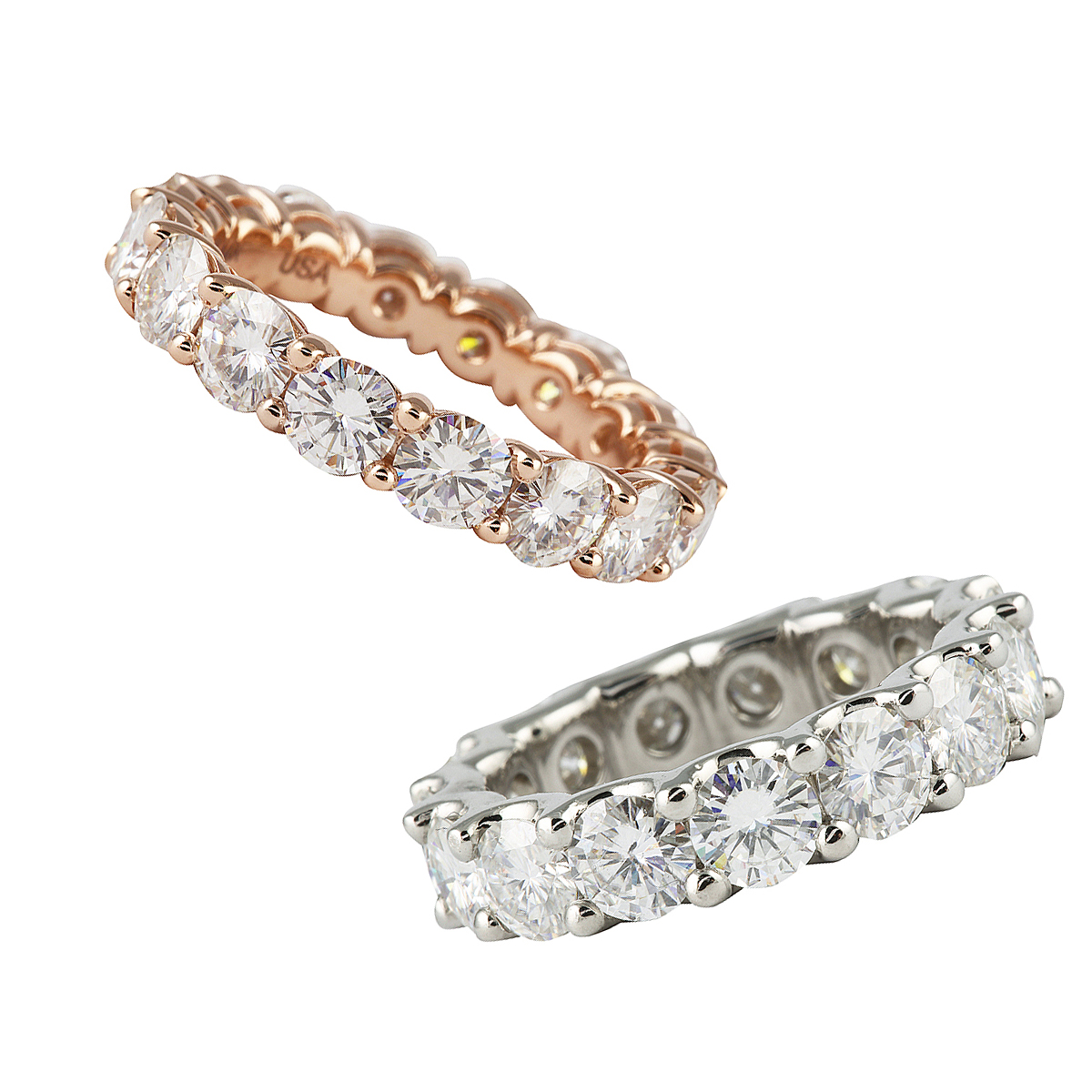 and fr products ring mirabess halo eternity diamond moissanite split band bands shank milgrain