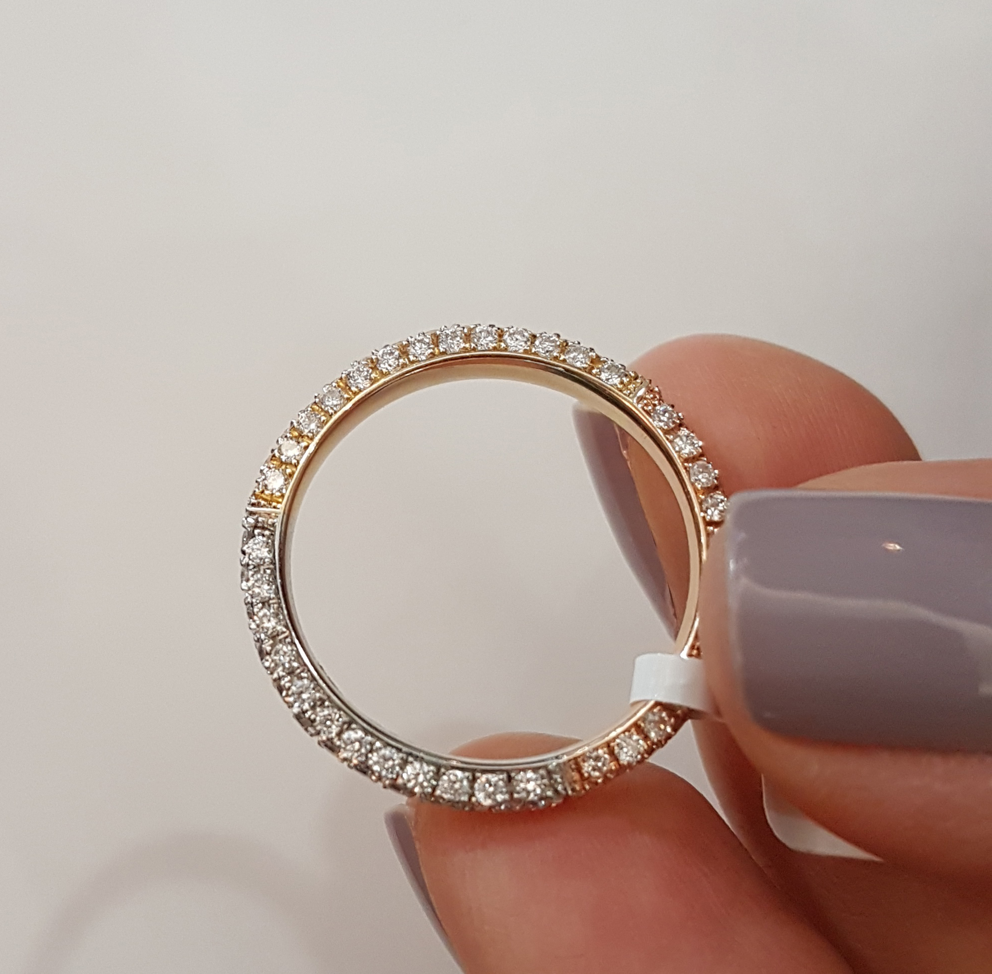 white product lyst ef spiral diamond multi in normal jewelry metallic gallery collection bands ring goldclear