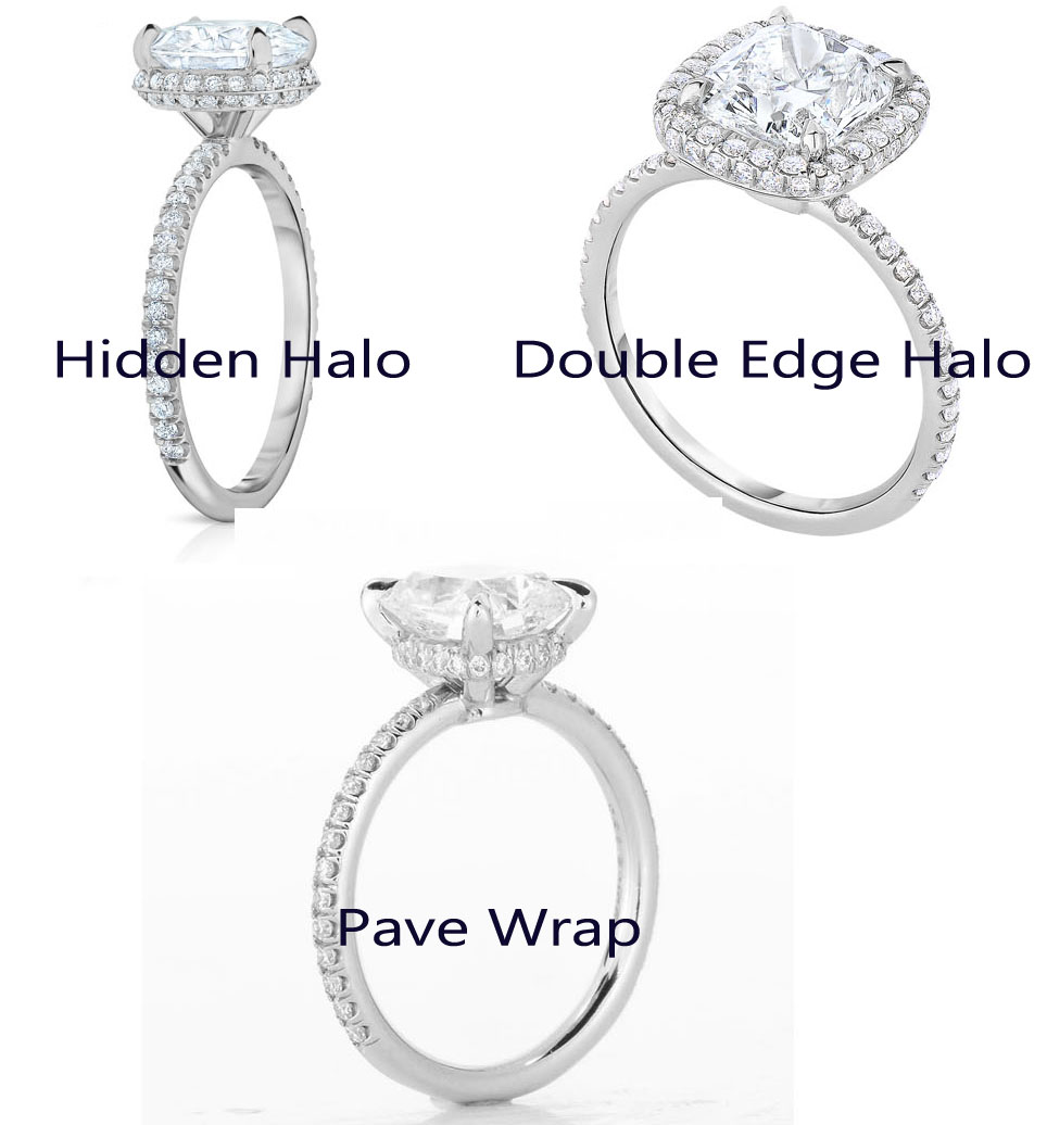 ring french shank white set fit pave hidden a six prong brilliant gallery solitaire round platinum in diamond pav comfort halo domed open engagement enr pre gold
