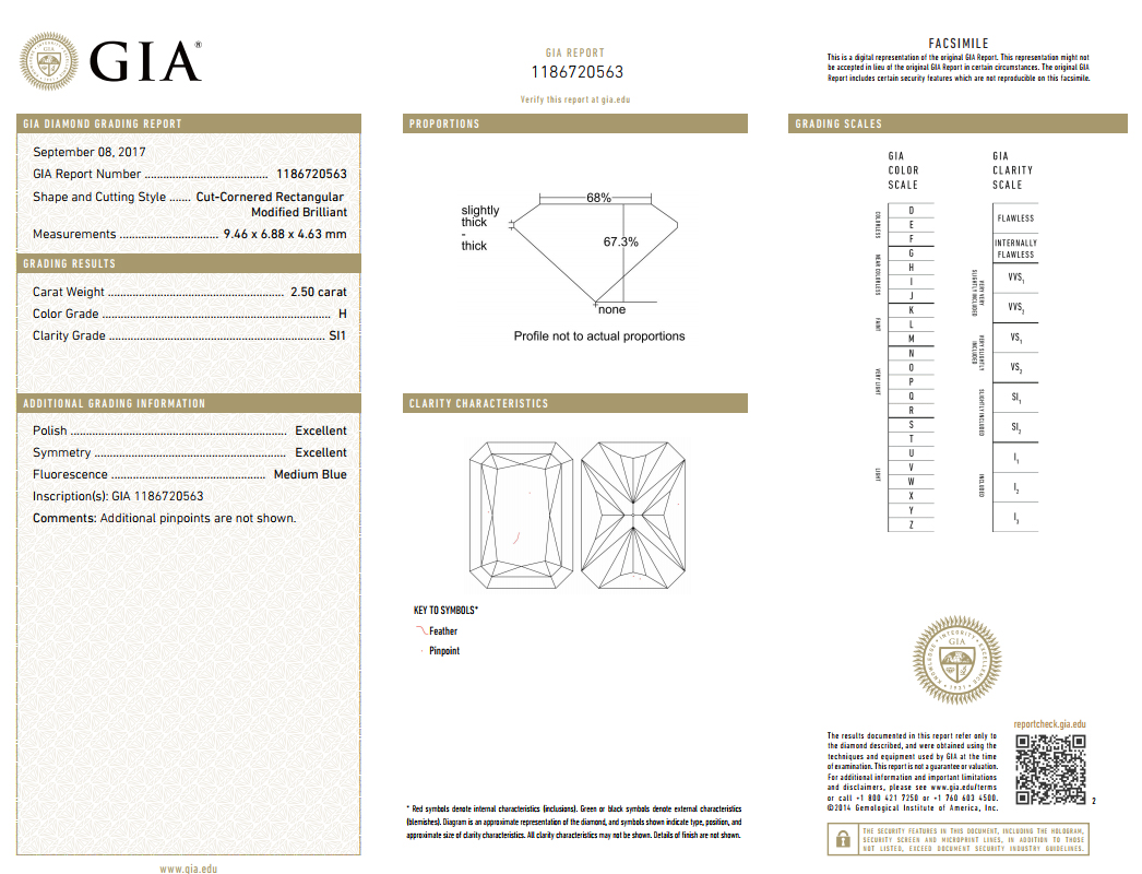 A gia report for a perfect radiant cut diamond ask lb jewelry depthtable percentages nvjuhfo Choice Image