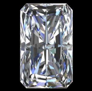 A+ GIA Report for a Perfect Radiant Cut Diamond