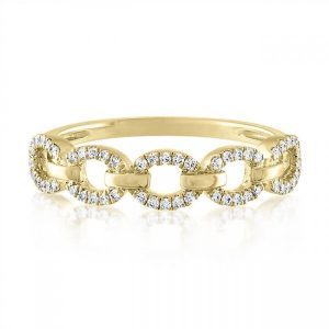 Pave Chain Link Ring gift