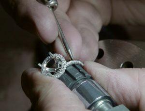 halo engagement ring pave diamonds setting ring unfinished
