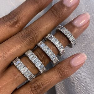 Emerald Cut Wedding and Eternity Bands: Everything You Need to Know