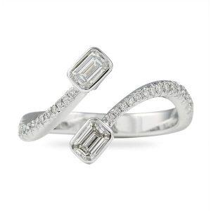 toi et moi diamond ring wedding band